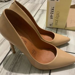 Nude Leather Cathy Jean Pumps